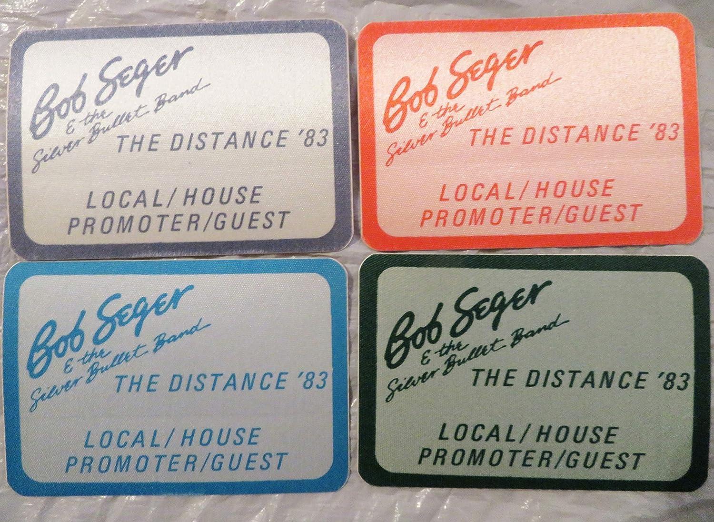 4 1983 Bob Seger the Distance Tour Satin Backstage Passes Promoter