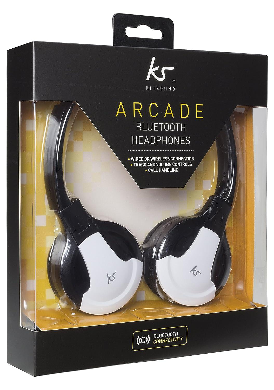 e126b840c69 KitSound Arcade Wireless Bluetooth Headphones with Mic: Amazon.co.uk:  Electronics