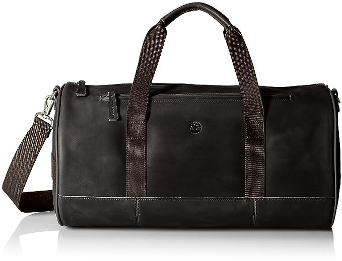 ca851e2f0d9 Amazon.com  Timberland Men s Tuckerman Leather Duffel, Black  Clothing