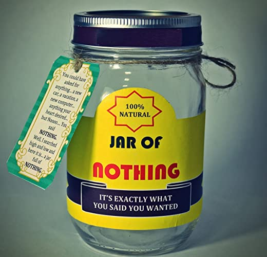 best gag gift jar of nothing white elephant gift funny gift for boyfriend