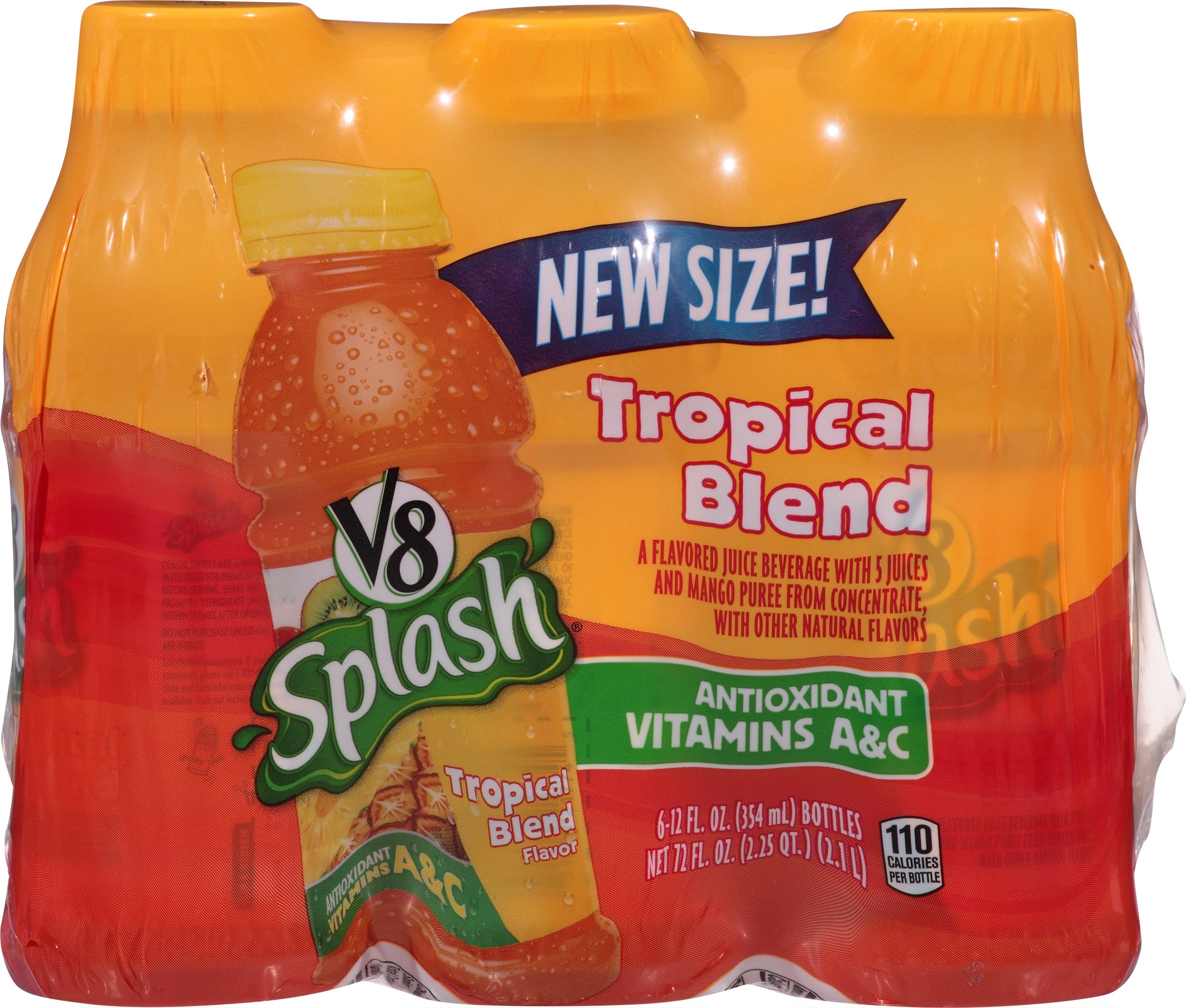 Amazon Com V8 Splash Tropical Blend 5 5 Ounce 6 Count Pack Of