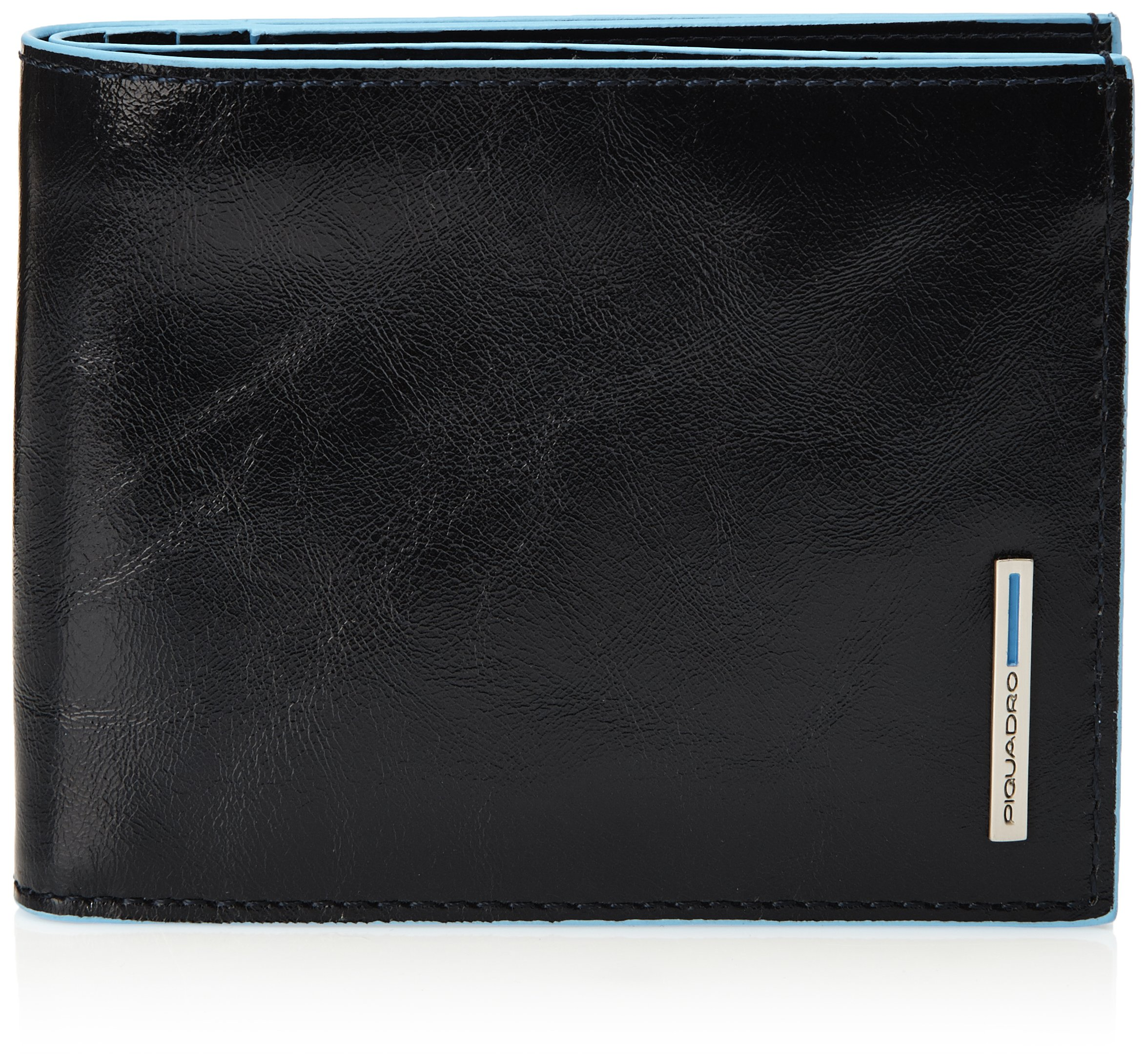 Piquadro Leather Man's Wallet with 12 Credit Card Slots, Dark Blue by Piquadro