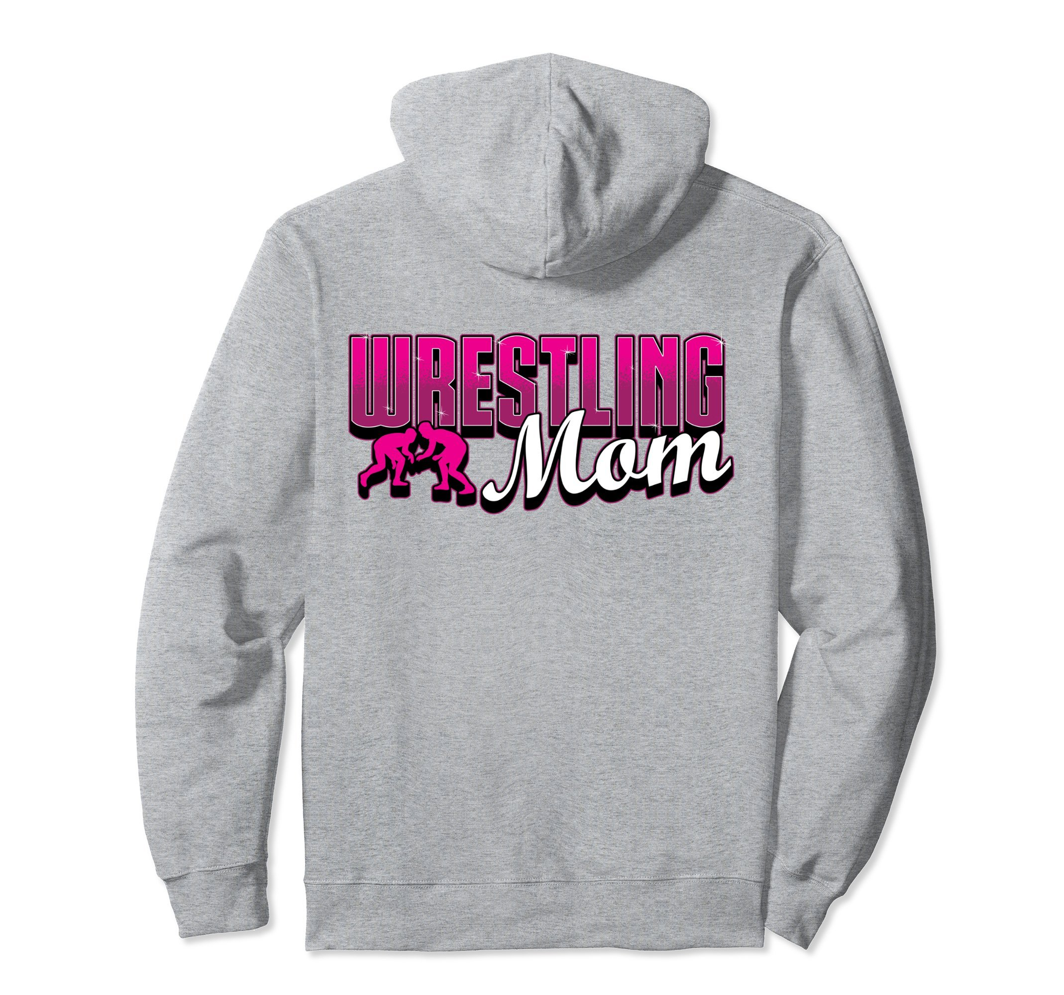 Unisex Wrestling Hoodie - Wrestling Mom Sweatshirt Small Heather Grey