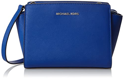 Michael Kors 30T3SLMM2L, Borsetta da polso donna blu Blu