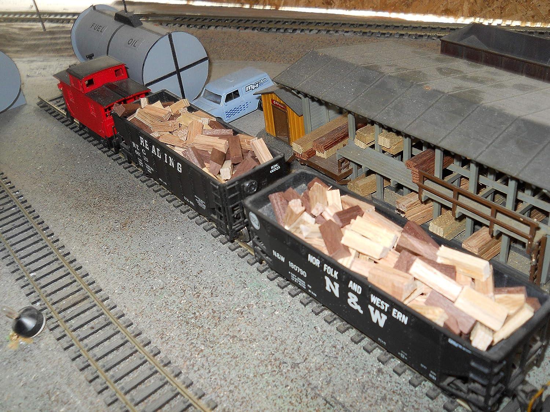 HO-O-S scale firewood loads for hopper and gondola cars