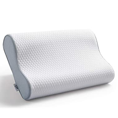 EXQ Home Neck Pillow for Sleeping Contour Memory Foam Pillow for Side Sleepers Hypoallergenic Standard Size Bed Pillow