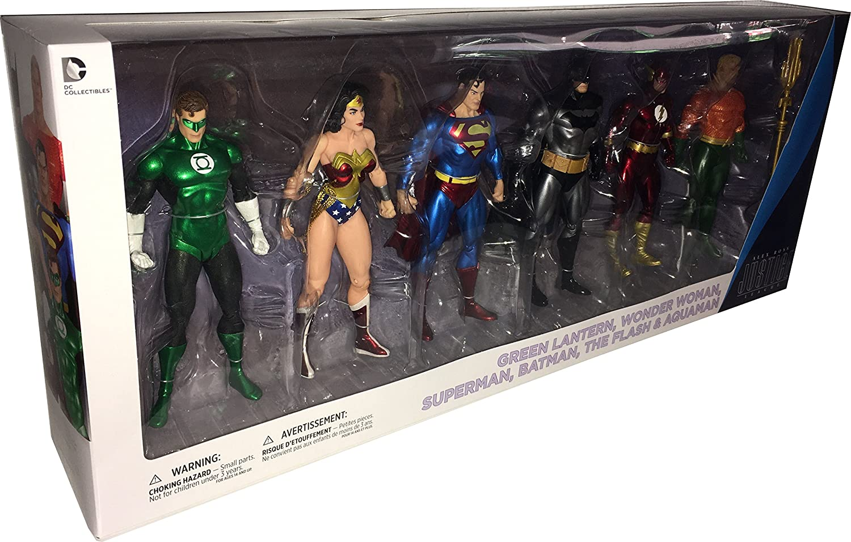 DC Comics JUSTICE LEAGUE 6-teiliges Actionfigurenset: Nach den Comic-Vorlagen von Alex Ross!