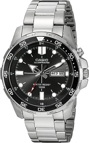 Amazon.com: Casio Men's MTD-1079D-1AVCF Super Illuminator Diver Analog  Display Quartz Silver Watch: Watches