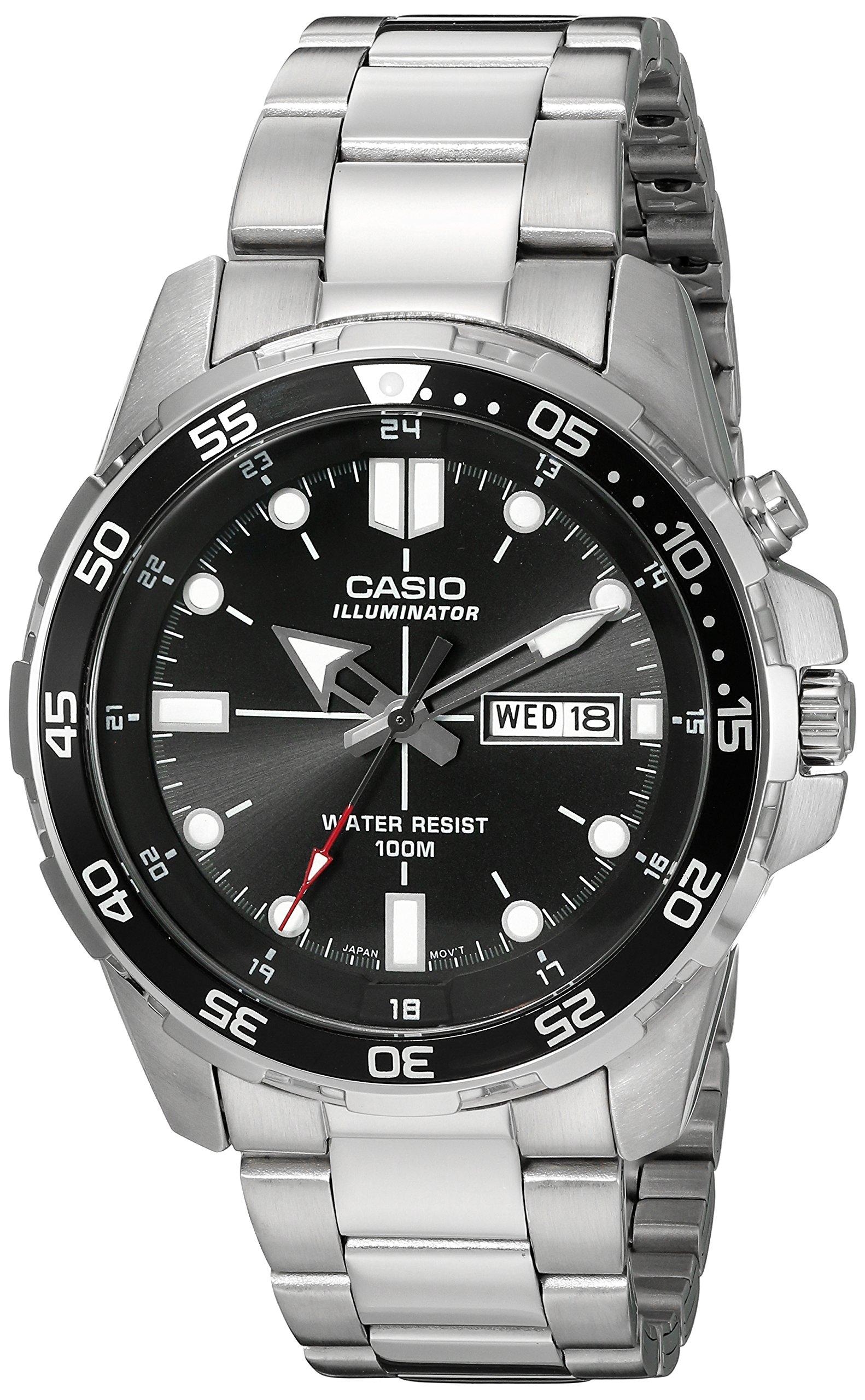 Casio Men's MTD-1079D-1AVCF Super Illuminator Diver Analog Display Quartz Silver Watch by Casio