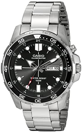 391b34b7031c Amazon.com  Casio Men s MTD-1079D-1AVCF Super Illuminator Diver ...