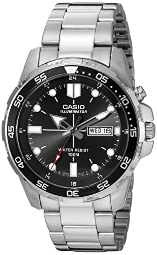 1cd5445b3dc6 Amazon.com  Casio Men s MTD-1079D-1AVCF Super Illuminator Diver Analog  Display Quartz Silver Watch  Watches