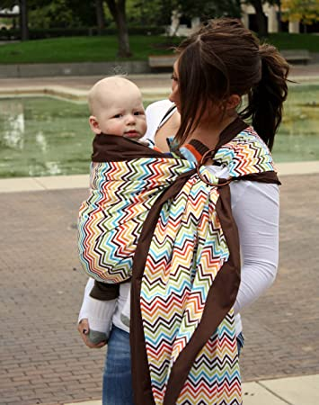 962de051abd Amazon.com   Snuggy Baby Prestige Ring Sling Baby Carrier - Rainbow Chevron    Child Carrier Slings   Baby