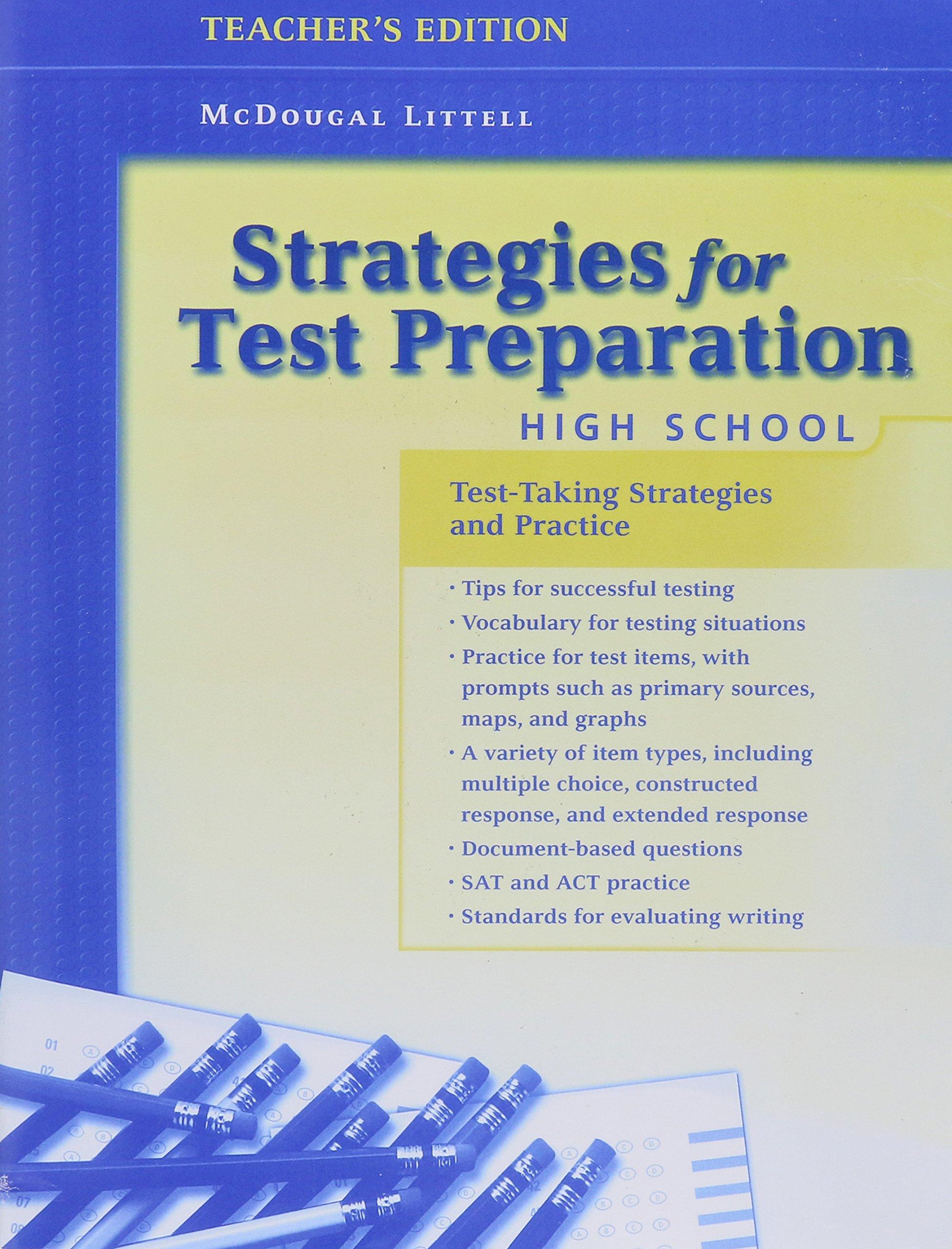 Download Strategies for Test Preparation: High School, Teacher's Edition pdf epub