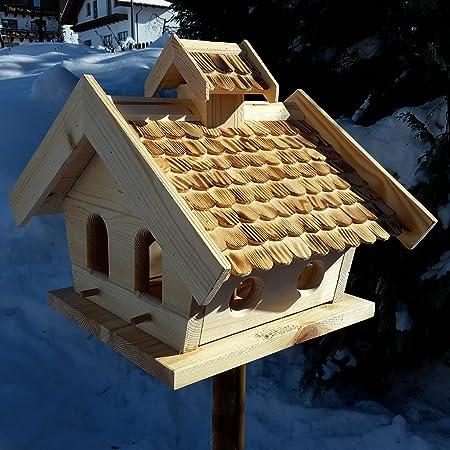 XXXL VOGELHAUS aus HOLZ Vogelhäuser Das Vogelhäuschen mit einem Nistkasten