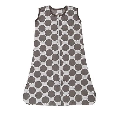 Bacati - Muslin Ikat Dots Sleeping Bag (Wearable Blankets) (Small, Grey): Baby