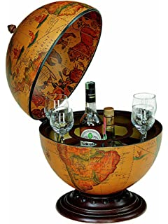 Ancient world globe map drinks cabinet bottle holder amazon bar globe drinks cabinet art 16 gumiabroncs Image collections