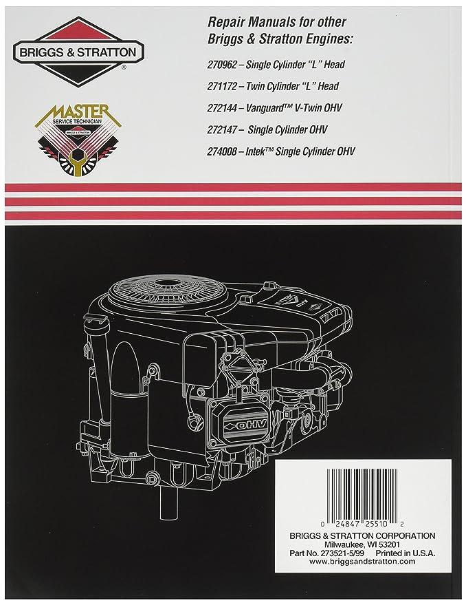 Amazon Briggs Stratton 273521 Intek V Twin Ohv Repair Manual