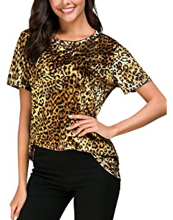 884bec724d12 Women's Vintage Velvet T-Shirt Casual Long Sleeve Top at Amazon ...