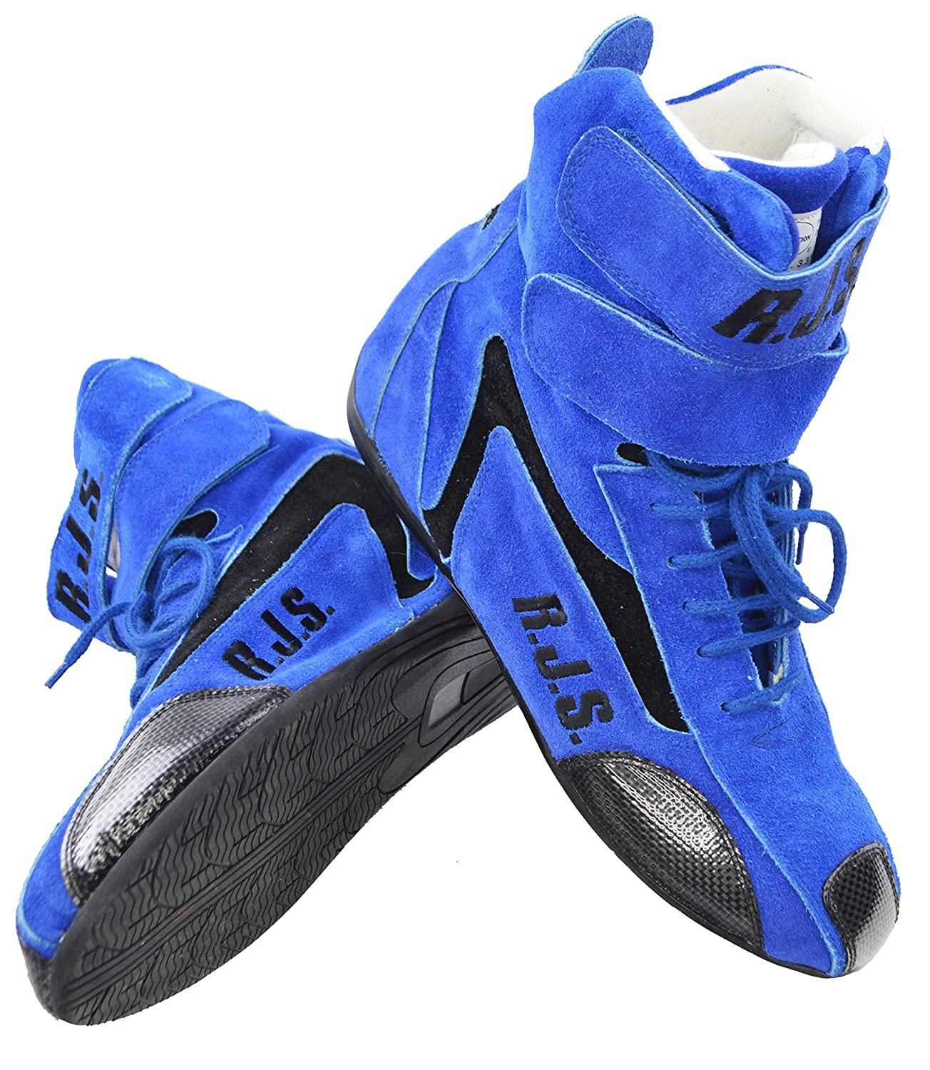 afb71676e45e2 Amazon.com: RACERDIRECT.NET RJS Racing Safety Equipment Blue HI TOP ...