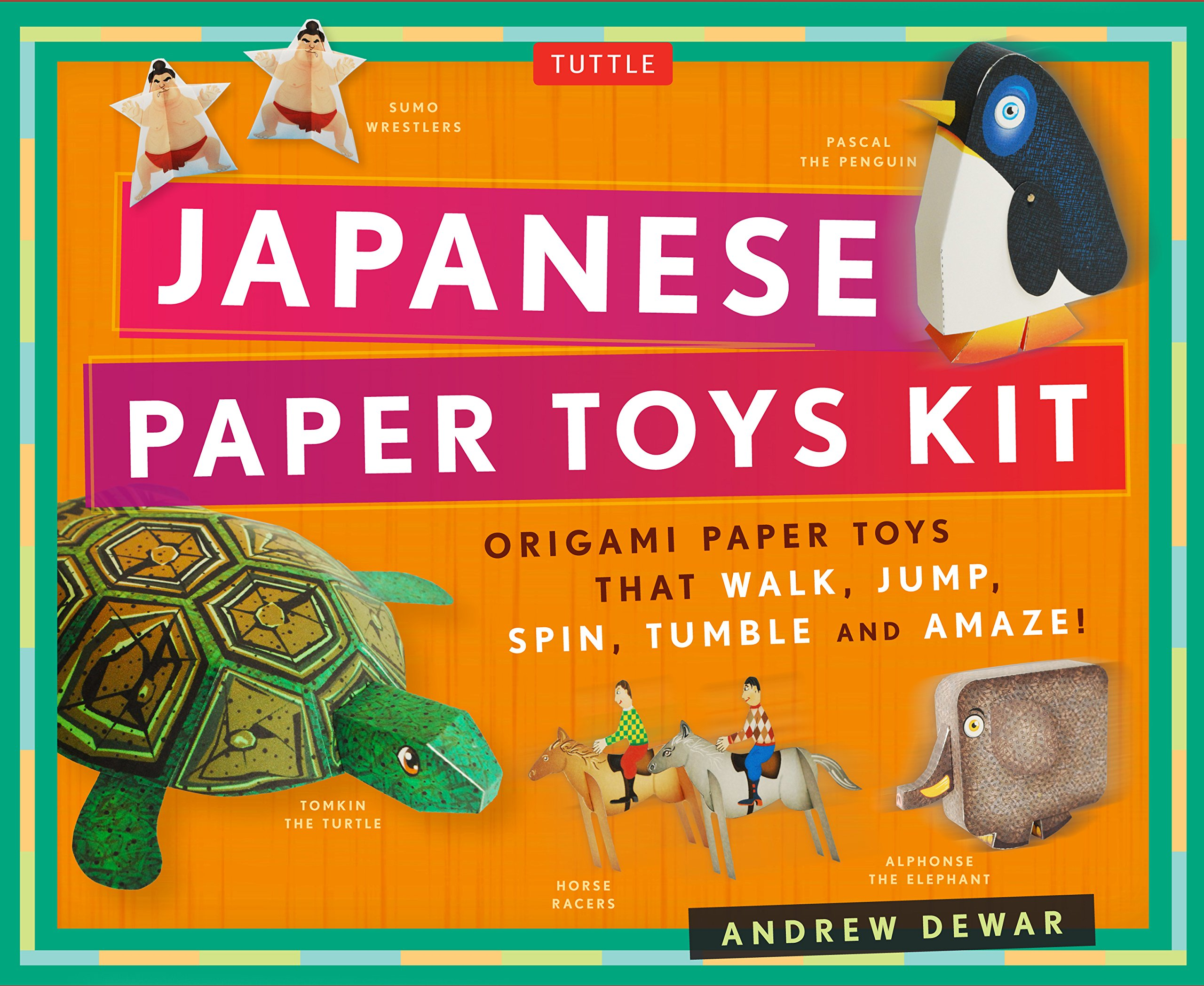 Japanese Paper Toys Kit: Origami Paper Toys that Walk, Jump, Spin, Tumble and Amaze! Paperback – September 27, 2016 Andrew Dewar Kostya Vints Tuttle Publishing 0804846324