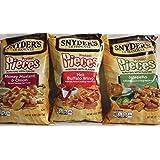 Snyders of Hanover, Pretzel Pieces, Flavor Mix Pack, 12oz Bag (Pack of 3)