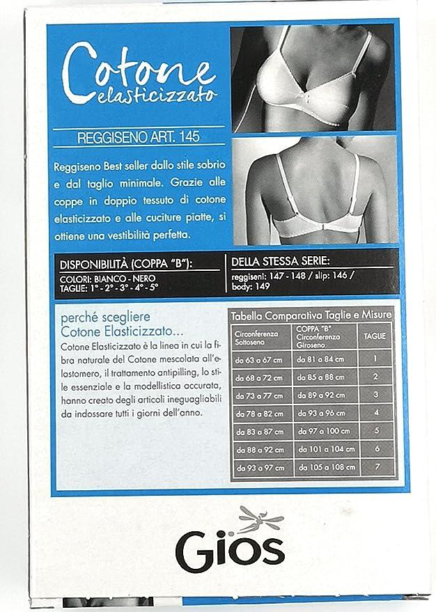 REGGISENO SENZA FERRETTO COTONE ELASTICIZZATO COPPA B ART.145 GIOS