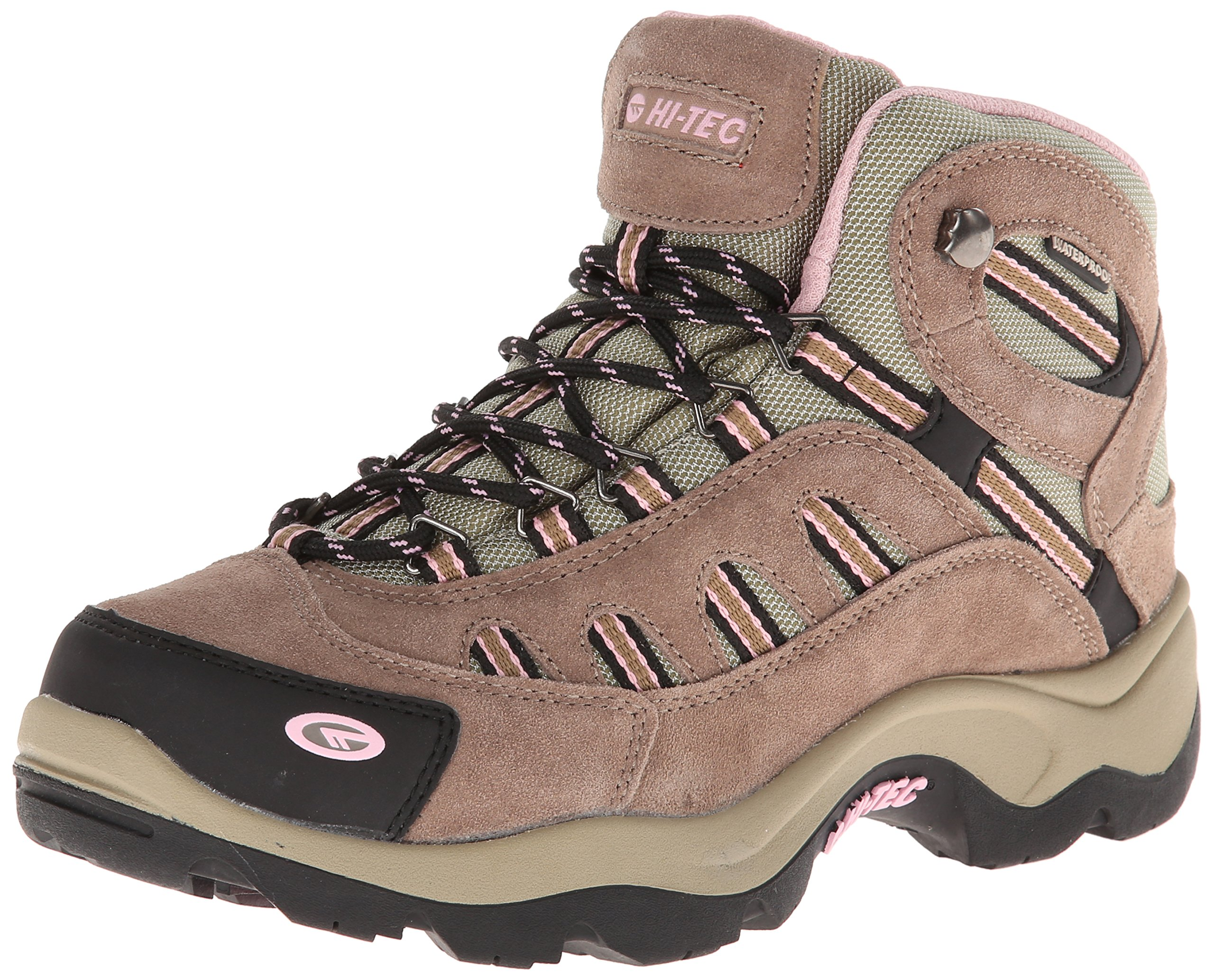 Hi-Tec Women's Bandera Mid Waterproof Hiking Boot,Taupe/Blush,10 M US
