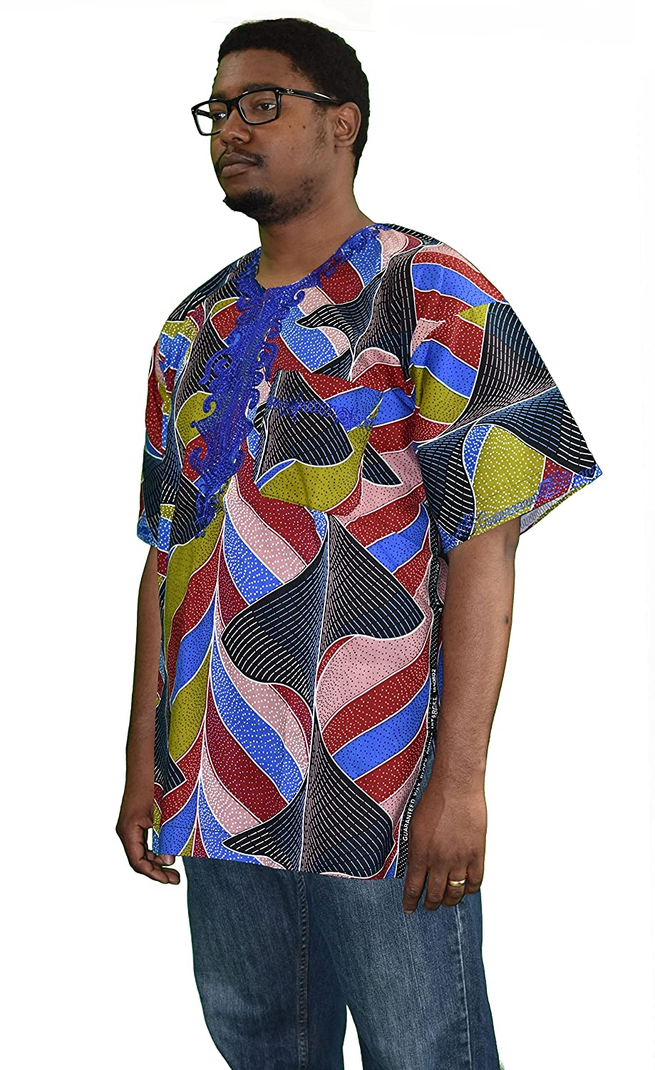 Authentic African Ankara Dashiki- Deep Space at Amazon Mens Clothing store: