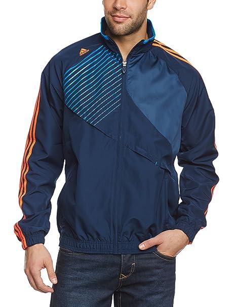 Adidas - Chaqueta de fútbol sala para hombre, tamaño M, color colegial azul marino