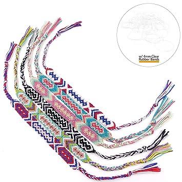 9pcs Colorful Braid Strands Friendship Cords Handmade Bracelets Wristband