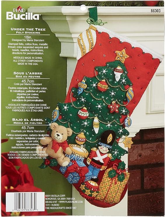 85432 Baby Bear Bucilla 18-Inch Christmas Stocking Felt Appliqu/é Kit