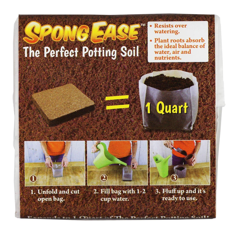 Amazon.com : SpongEase Potting Soil 1QT compressed coconut coir for ...