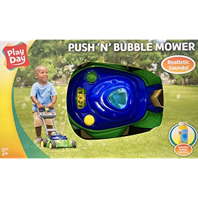 Play Day Push N Bubble Mower with Realistic Sounds: Toys & Games