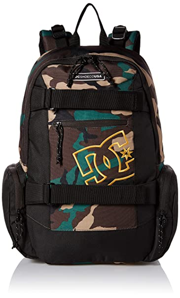 DC Shoes Mens The Breed 26L Medium Backpack Bag Black Camo