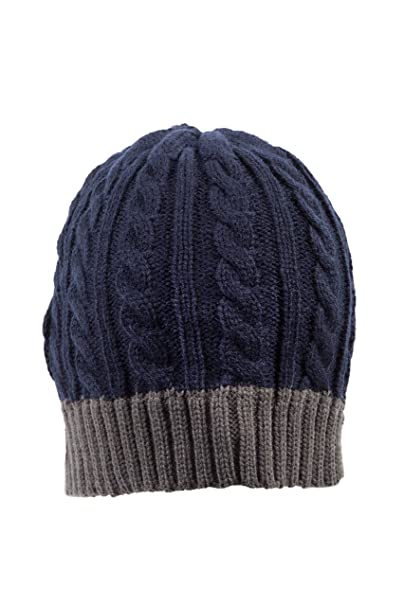 beded7d99ff31 IMTD para hombre funda de punto para invierno cálido gorro de lana para  hombre contraste borde