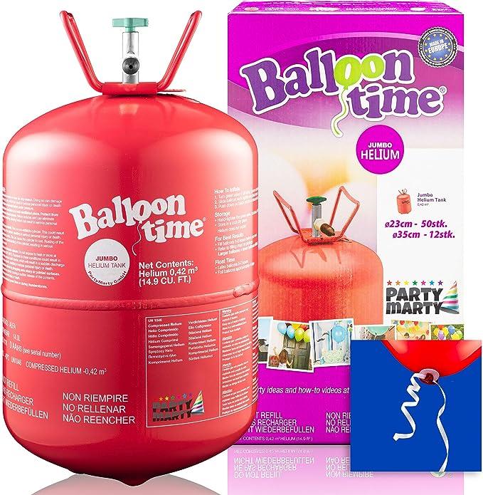 Für ca.30 Ballone Helium//Ballongas Einweg-Behälter Inhalt 0,25 m³ Ø23cm
