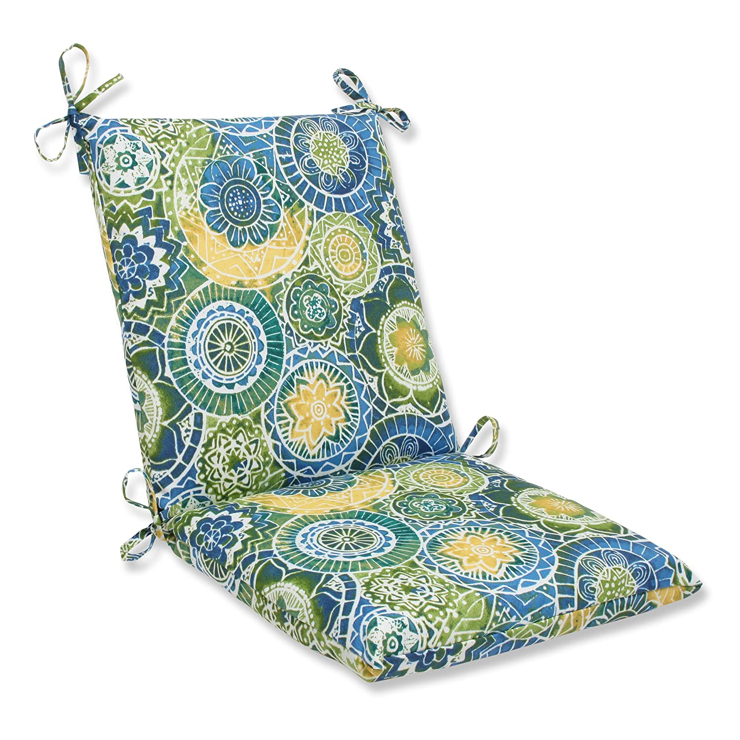Pillow Perfect Outdoor Omnia Lagoon Squared Corners Chair Cushion