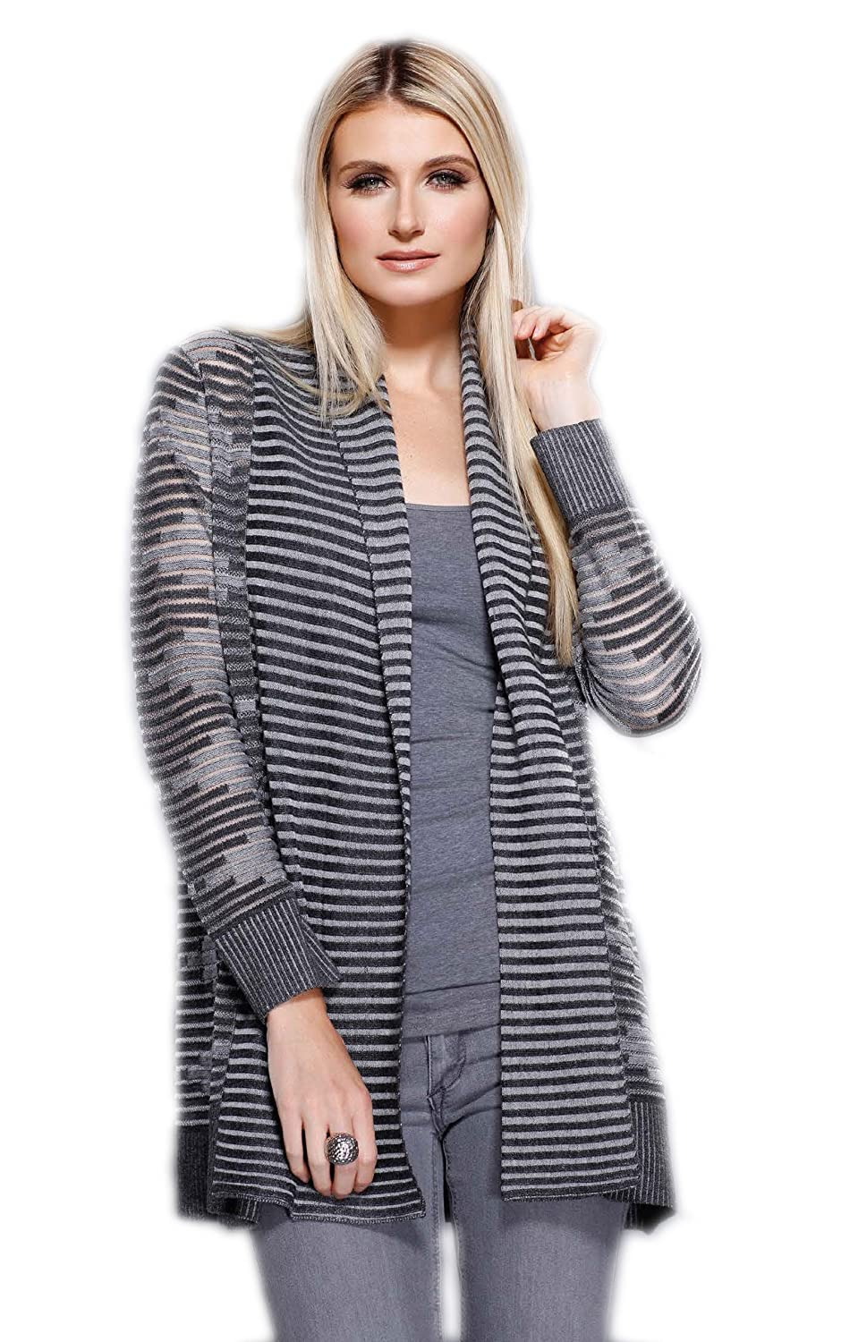 Gaby & Eden Womens Diamond & Stripe Cardigan