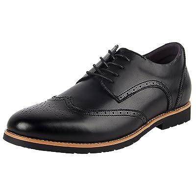 iloveSIA Men's Leather Oxford Brogue Wingtip Dress Shoes | Oxfords