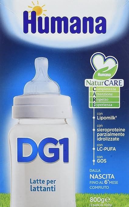 Humana Dg 1 lácteos en polvo de 800 g Nacimiento: Amazon.es ...