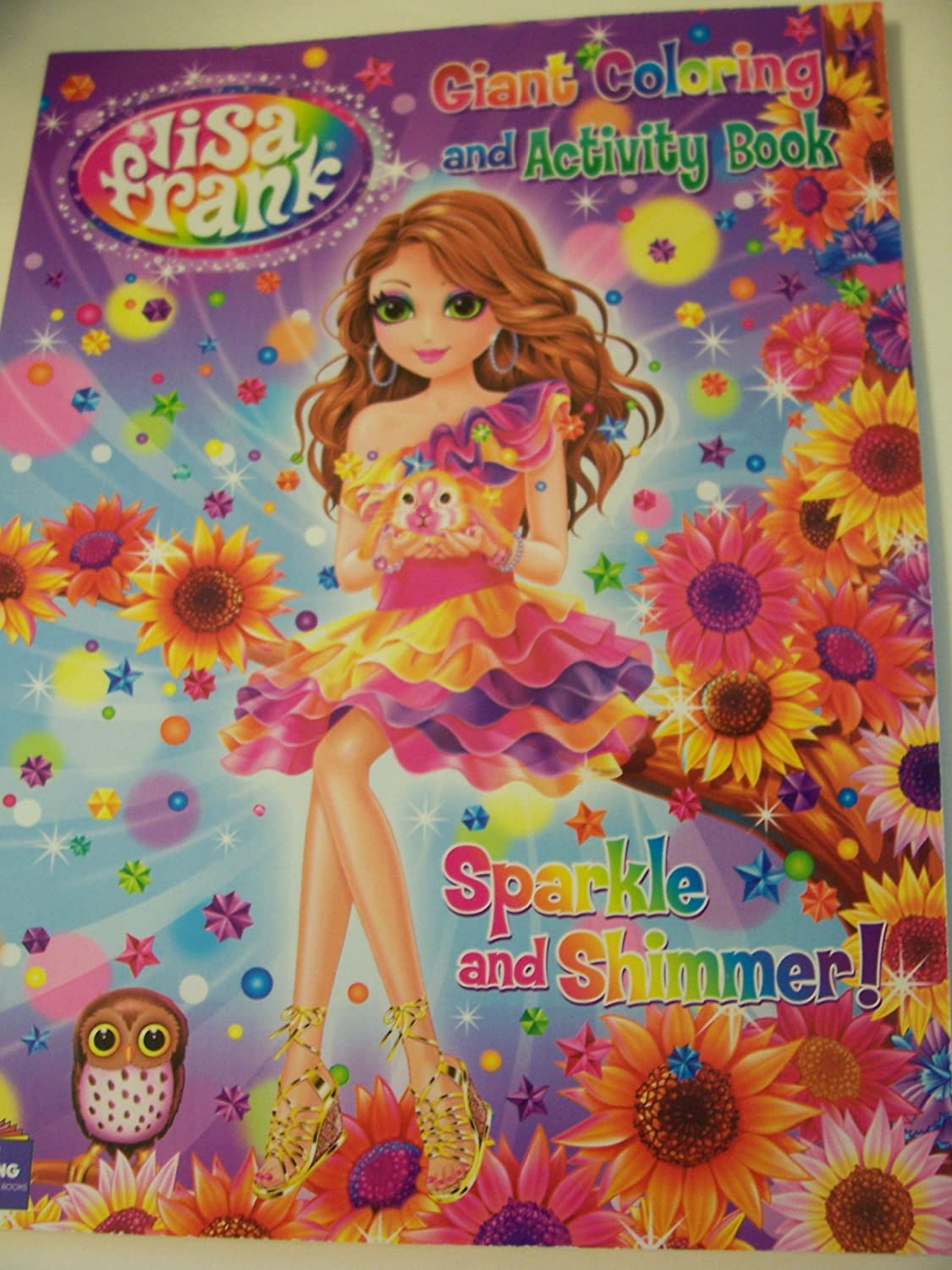 amazon com lisa frank giant coloring and activity book sparkle