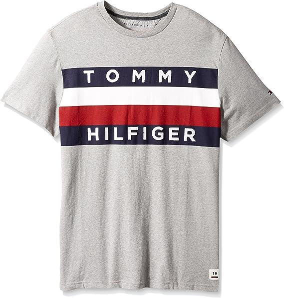 Tommy Hilfiger Mens Big and Tall Flag Logo T Shirt