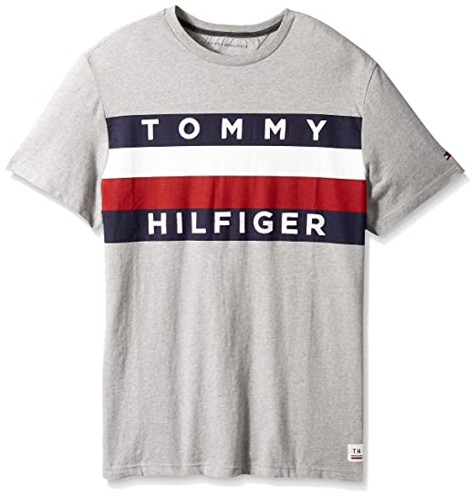 1667b20f Tommy Hilfiger Men's Big and Tall Flag Logo T Shirt | Amazon.com
