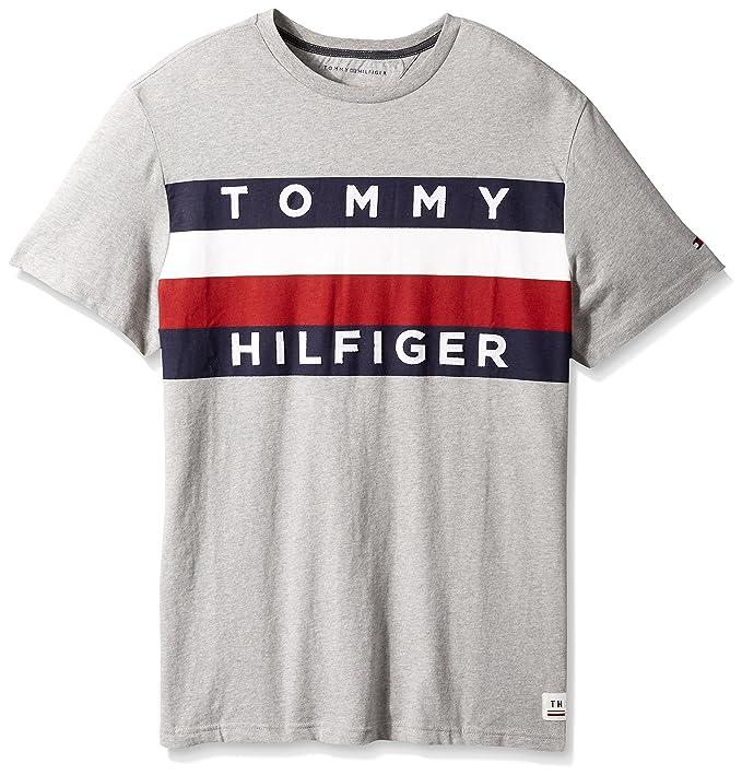 9bdaa254 Tommy Hilfiger Men's Big and Tall Flag Logo T Shirt | Amazon.com