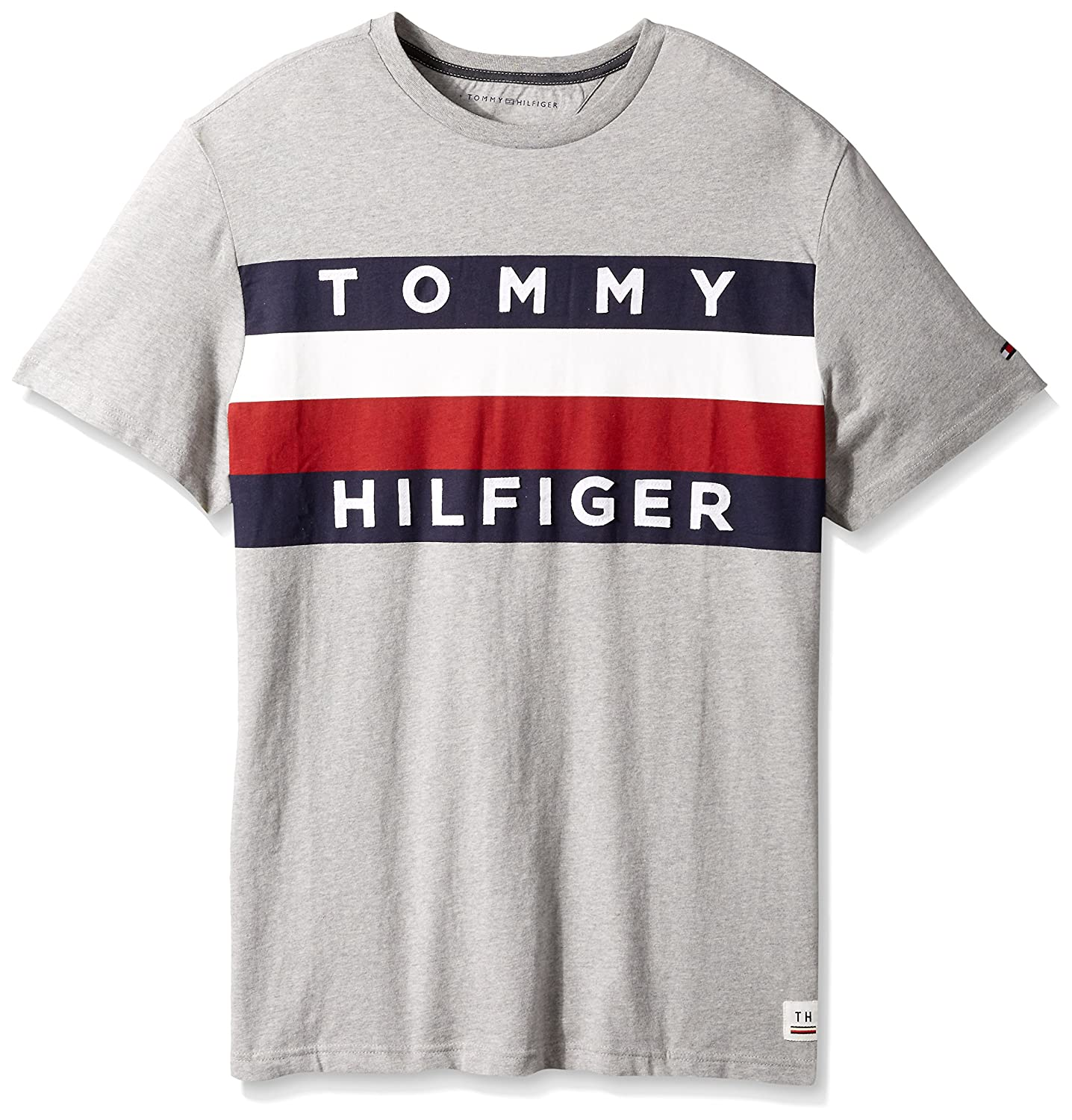 big sale 07f10 4b276 Tommy Hilfiger big and tall logo t shirt featuring our iconic flag logo and  stripes. Jersey fabric garment washed for softness. Ribbing at collar