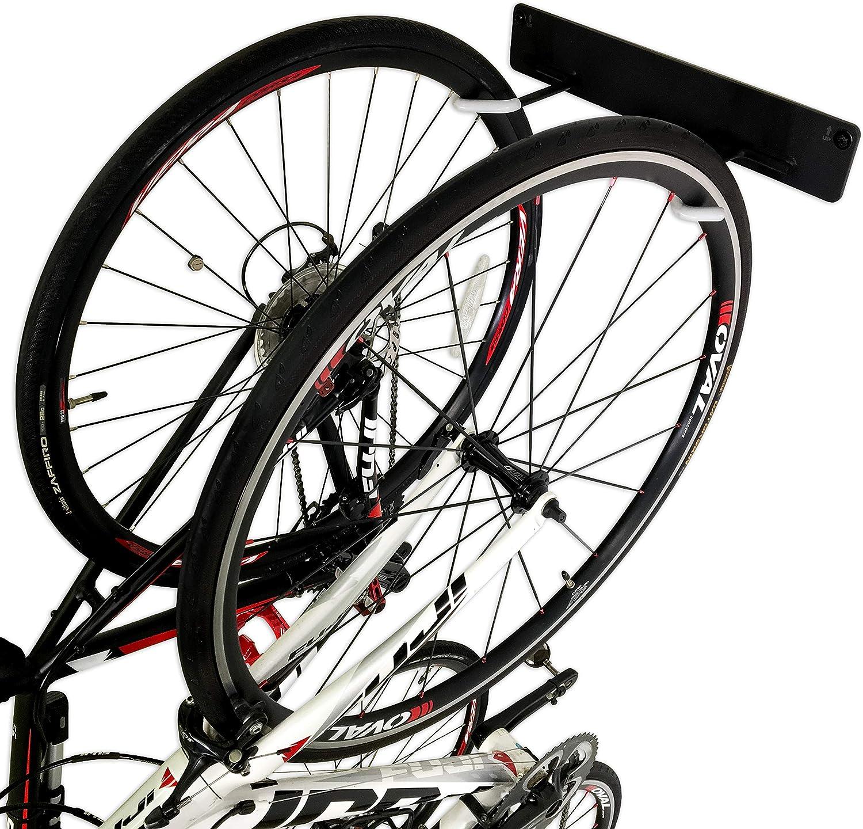 StoreYourBoard BLAT 2 Bike Vertical Wall Rack, Holds 2 Bikes, Home & Garage Mounted Storage Hooks, Heavy-Duty Solid Metal Max 100 lbs