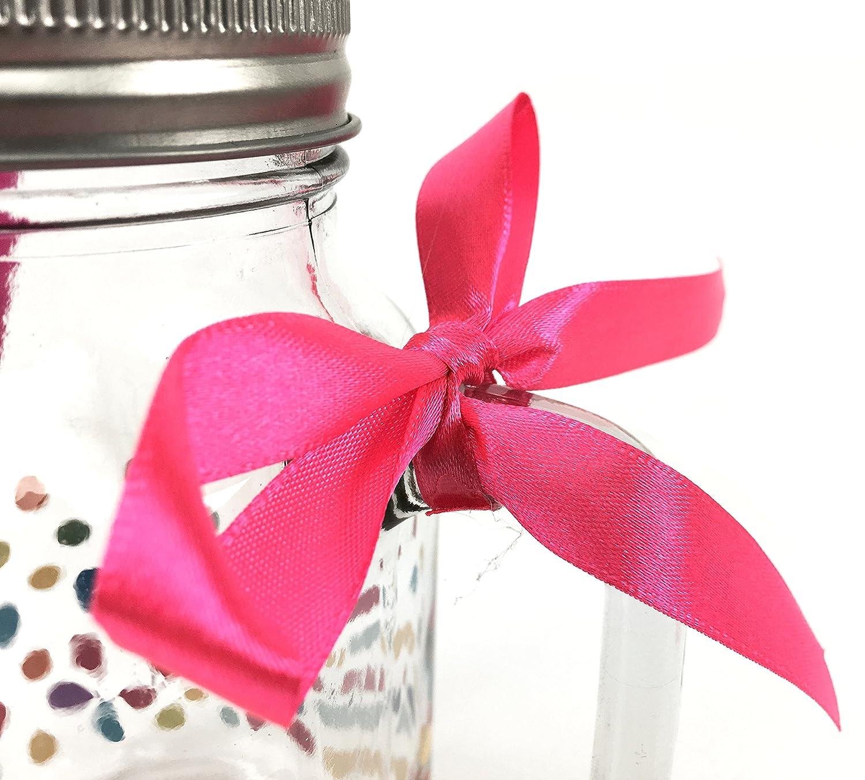 Drinking Mason Jar With Lid and Straw 500ml - 18th Birthday: Amazon ...