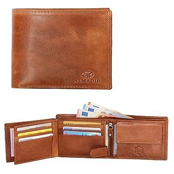 Damen Leder Geldbörse Geldbeutel Portemonnaie Börse Rindleder 12 Kartenfächer