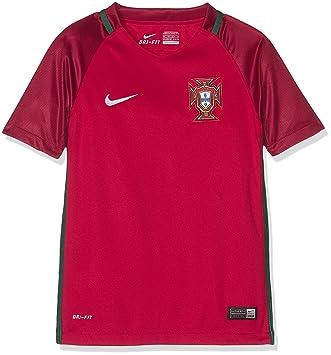 Nike Fpf YTH SS Hm Stadium JSY Camiseta Federación Portuguesa de Fútbol 2015-2016, Niños, Rojo/Blanco, L: Amazon.es: Deportes y aire libre