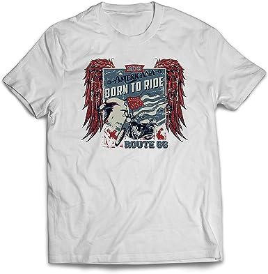lepni.me Camisetas Hombre Ruta histórica 66 - águila de la Bandera Americana,: Amazon.es: Ropa y accesorios